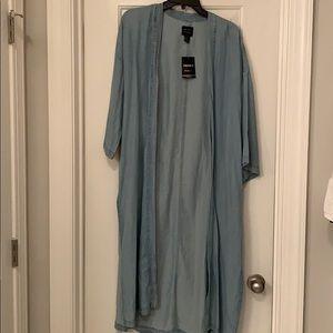 NWT Chambray Forever 21 Kimono. Size: Medium